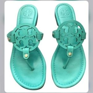 Tory Burch Miller Sandals Teal
